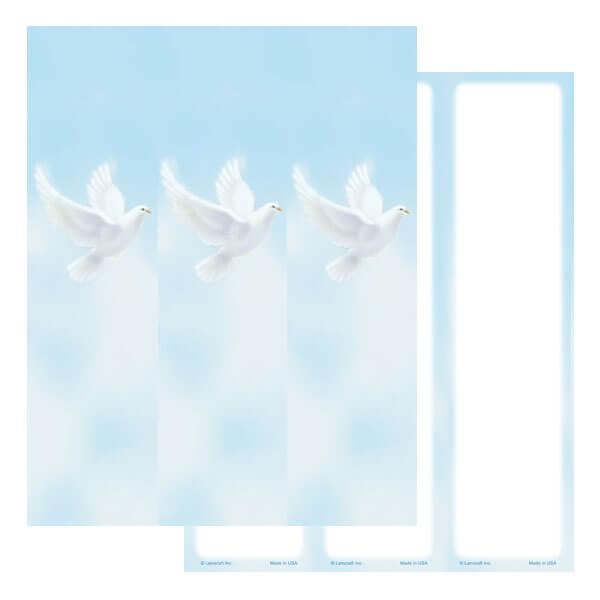 3-up Dove Micro-Perf Bookmark, No Verse