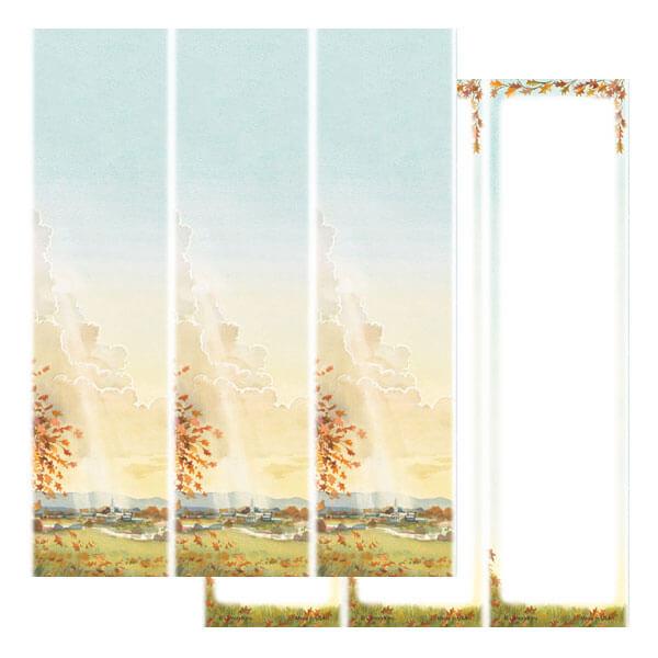 3-up Meadow Micro-Perf Bookmark, No Verse