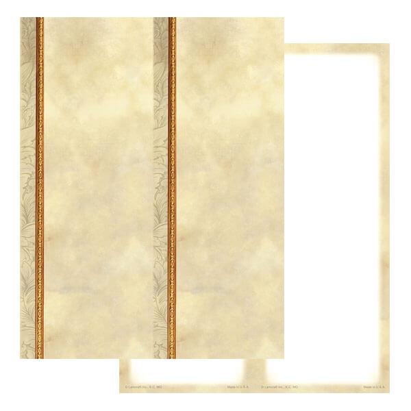 2-up Antique Border Micro-Perf Bookmark, No Verse