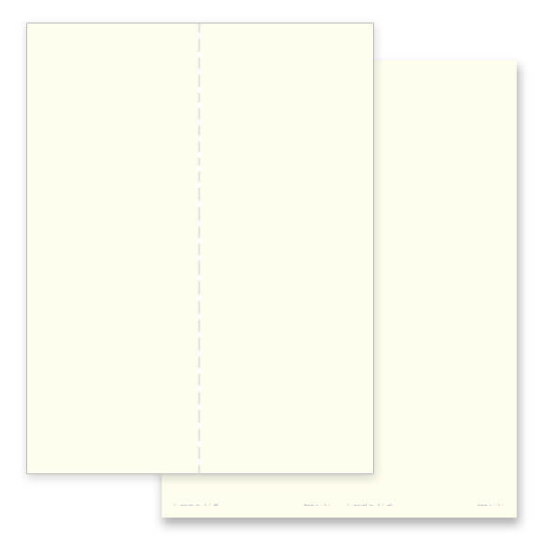 2-up Ivory, Plain Stock Micro-Perf Bookmark, No Verse