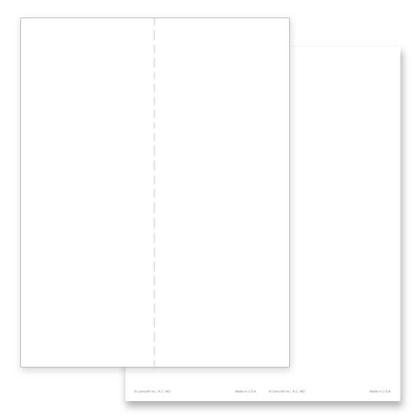 2-up White, Plain Stock Micro-Perf Bookmark, No Verse