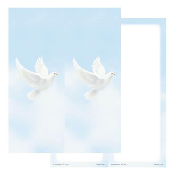 2-up Dove Micro-Perf Bookmark, No Verse