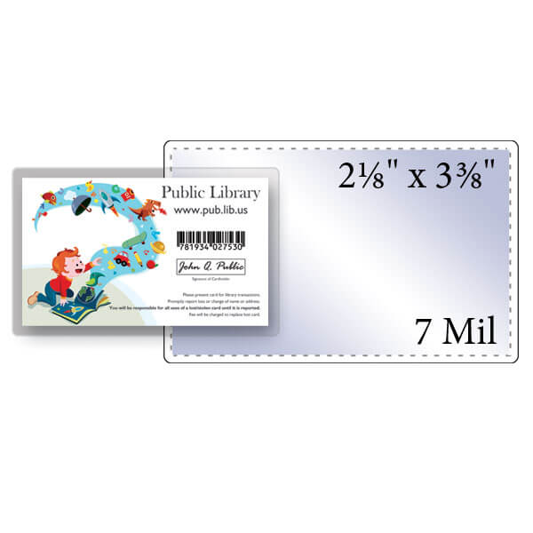 "2-1/8"" x 3-3/8"" Credit Card Pouch - 7 Mil"
