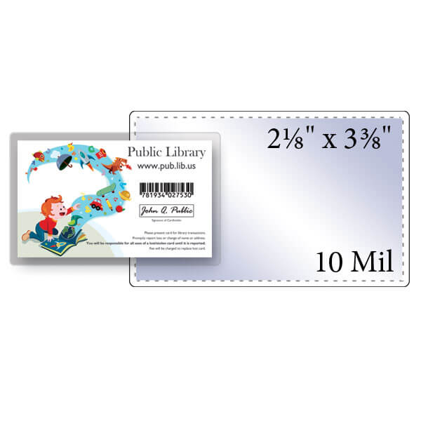 "2-1/8"" x 3-3/8"" Credit Card Pouch - 10 Mil"