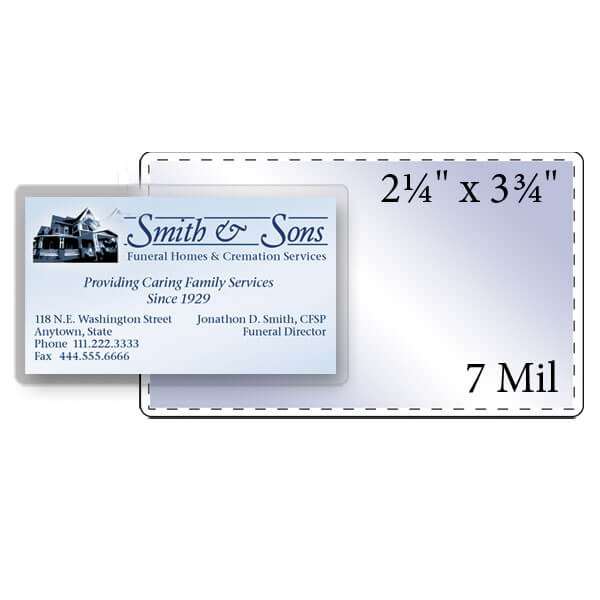 "2-1/4"" x 3-3/4"" Business Card Pouch - 7 Mil"