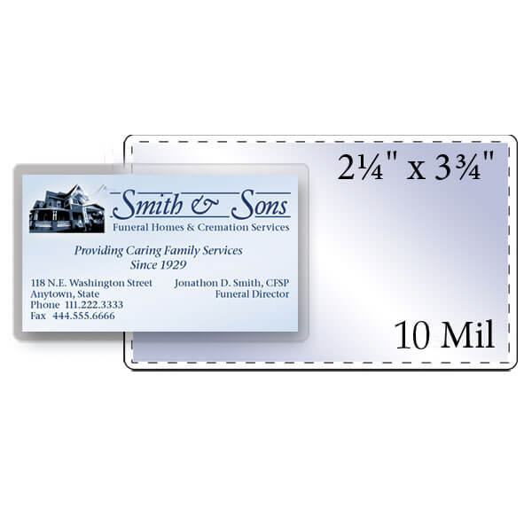 "2-1/4"" x 3-3/4"" Business Card Pouch - 10 Mil"