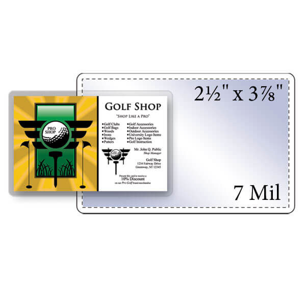 "2-1/2"" x 3-7/8"" Key Card Pouch - 7 Mil"
