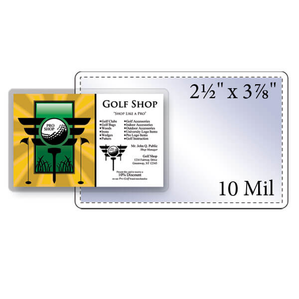 "2-1/2"" x 3-7/8"" Key Card Pouch - 10 Mil"