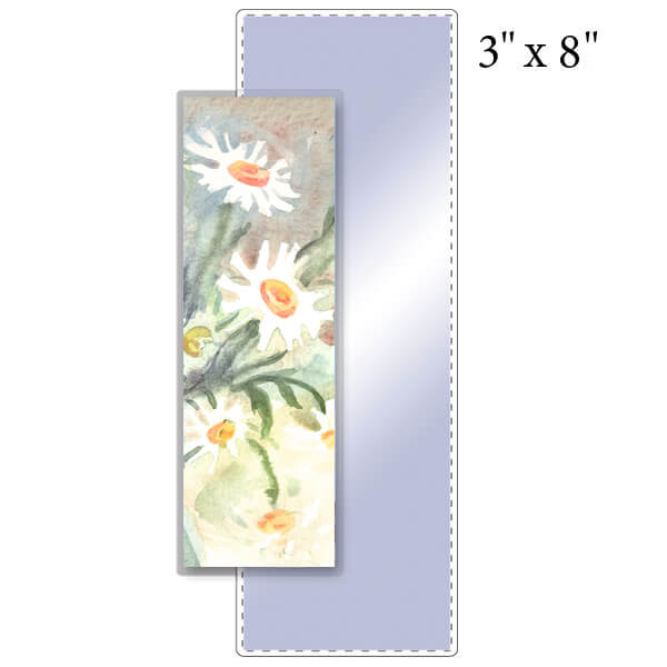 """3"""" x 8"""" Bookmark Pouch - 5 Mil"""