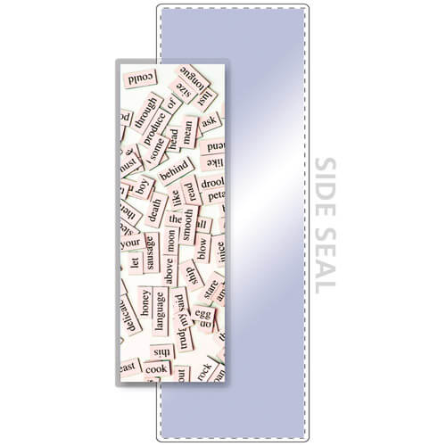 """3-1/4"""" x 8-1/2"""" Bookmark Pouch, SIDE SEAL - 5 Mil"""