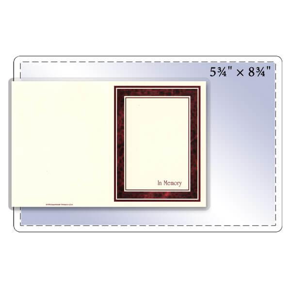 """5-3/4"""" x 8-3/4"""" Half Letter Size Pouch - 5 Mil"""