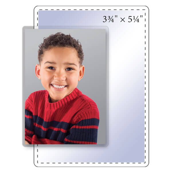 "3-3/4"" x 5-1/4"" Clear Photo Pouch - 5 Mil"