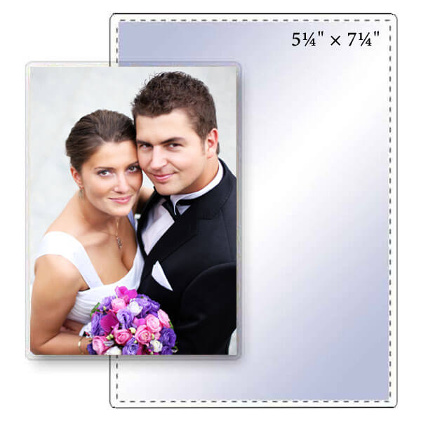 "5-1/4"" x 7-1/4"" Clear Photo Pouch - 5 Mil"