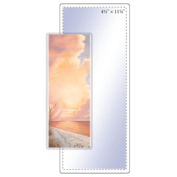 """4-1/2"""" x 11-1/4"""" Bookmark Pouch - 5 Mil"""