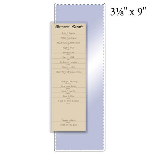 """3-1/8"""" x 9"""" Bookmark Pouch - 5 Mil"""