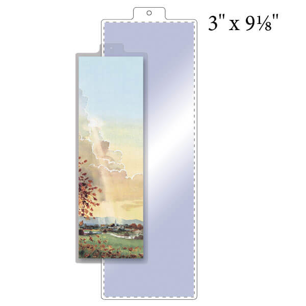 "3"" x 9-1/8"" Bookmark Pouch with Tassel Tab - 5 Mil"