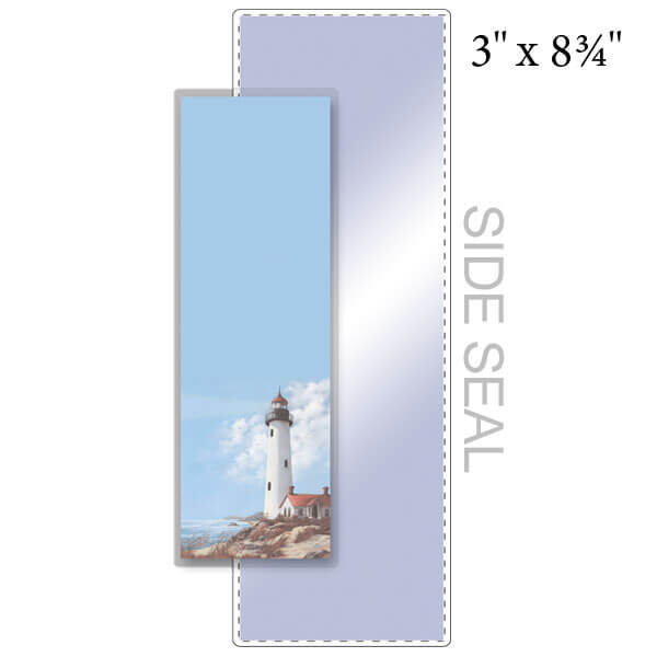 "3"" x 8-3/4"" Bookmark Pouch, SIDE SEAL - 5 Mil"