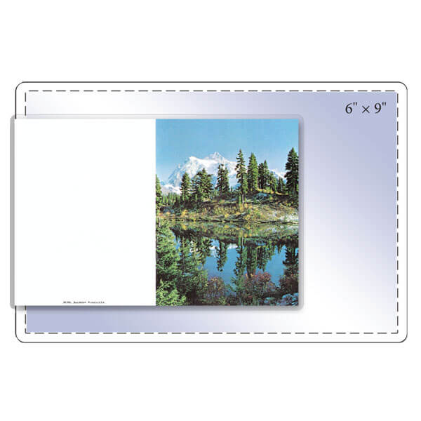 "6"" x 9"" Memorial Folder Pouch - 5 Mil"