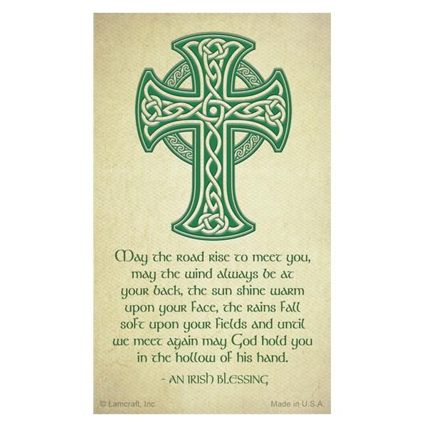 8-up Celtic Cross Micro-Perf Prayer Card, Irish Blessing