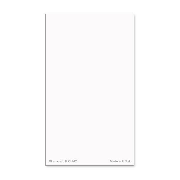8-up Solid White Micro-Perf Prayer Card, No Verse