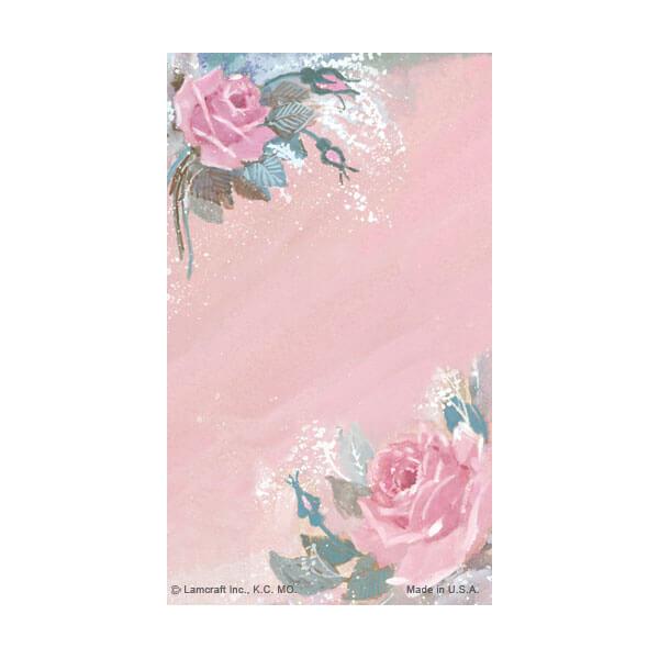 8-up Rose-Rose Micro-Perf Prayer Card, No Verse