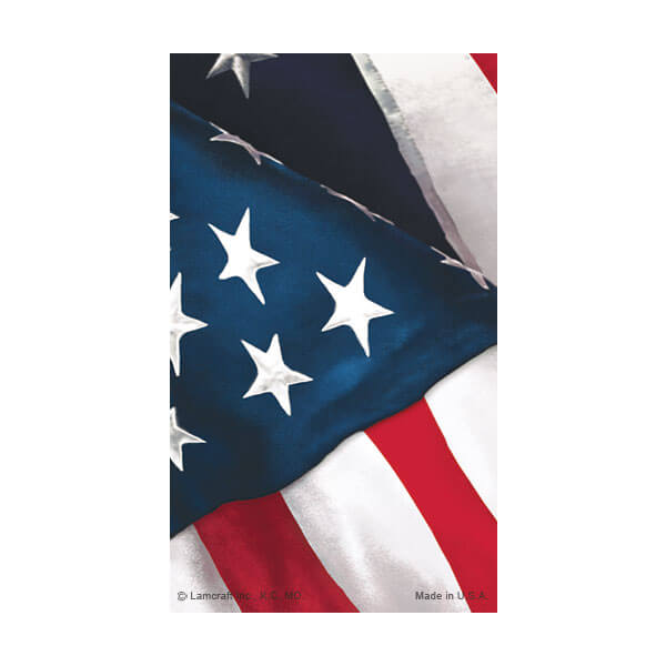 8-up U.S. Flag Micro-Perf Prayer Card, No Verse