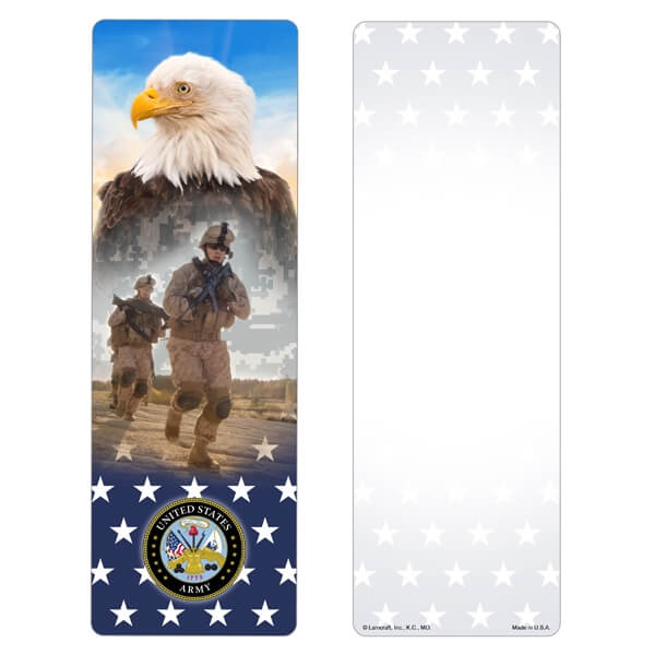 Stars & Eagle Premium Memorial Bookmark, Army Emblem