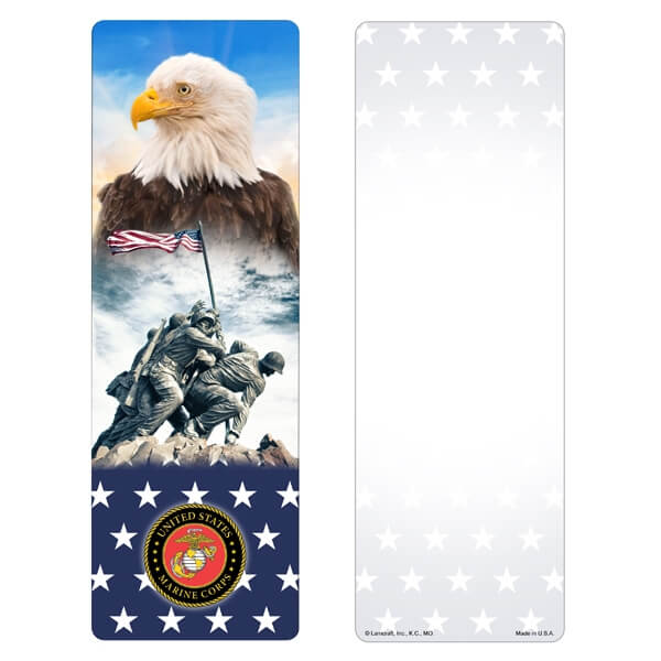 Stars & Eagle Premium Memorial Bookmark, Marines Emblem