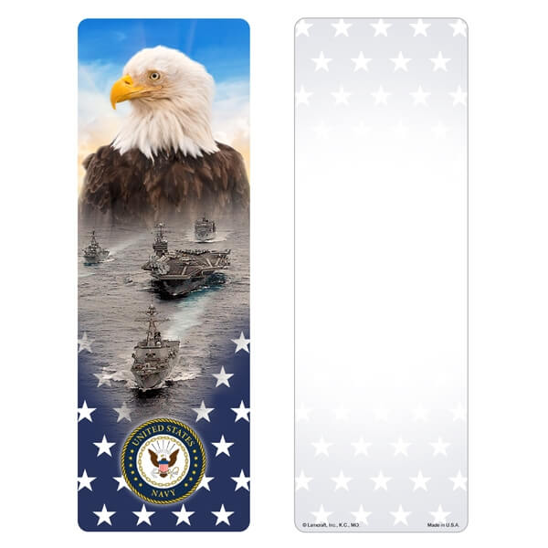 Stars & Eagle Premium Memorial Bookmark, Navy Emblem
