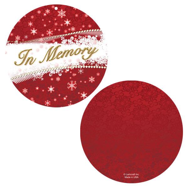 Red Snowflakes Memorial Ornament