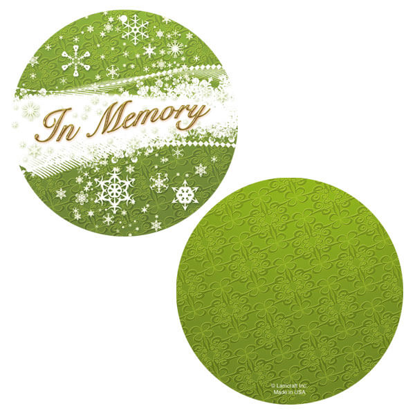 Green Snowflakes Memorial Ornament
