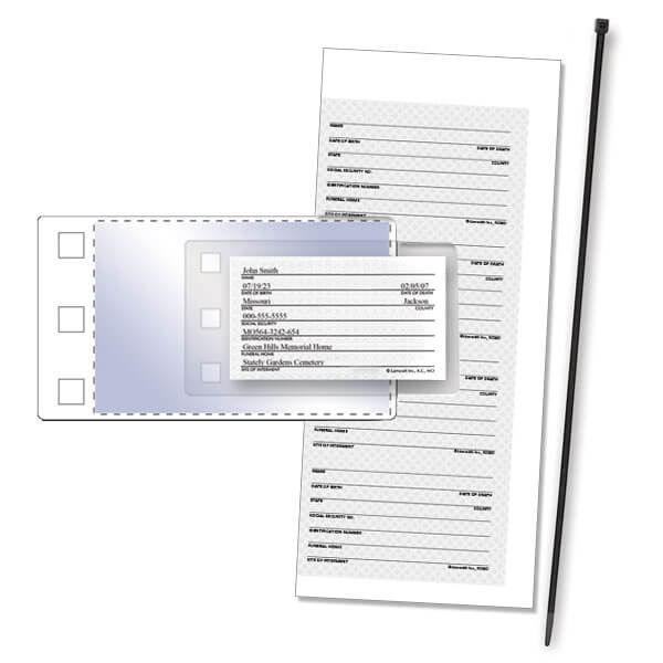 Body Tag Kit with 4-up Insert