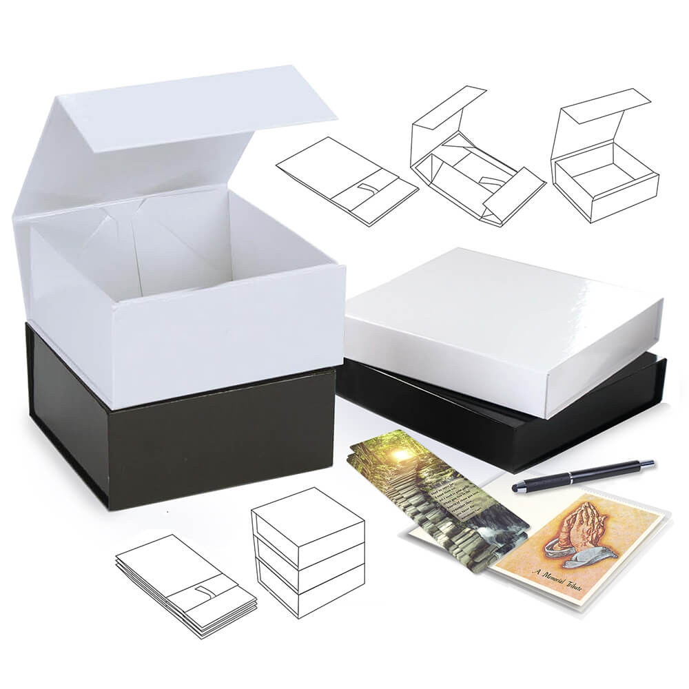 Small white belongings box