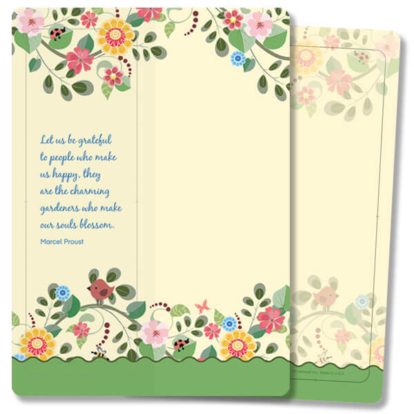 Happy Garden For Keeps™ Thank You Card, Let Us Be Grateful, no envelope