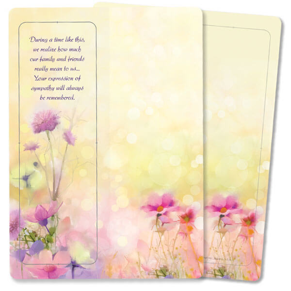 Bright Floral For Keeps™ Thank You Card, During a Time, no envelope