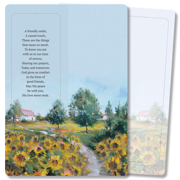 Sunflower Field For Keeps™ Thank You Card, A Friendly Smile, no envelope