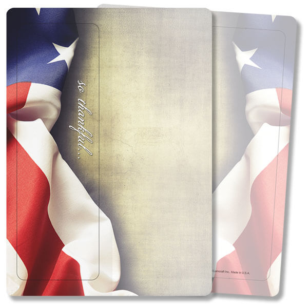 American Flag For Keeps™ Thank You Card, So Thankful, w/Envelope