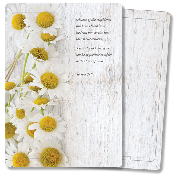 Daisies For Keeps™ Thank You Card, Aware of the Confidence, w/Envelope