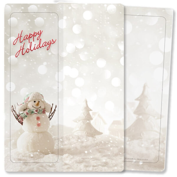Snowman For Keeps™ Bookmark Card, Happy Holidays, w/Envelope
