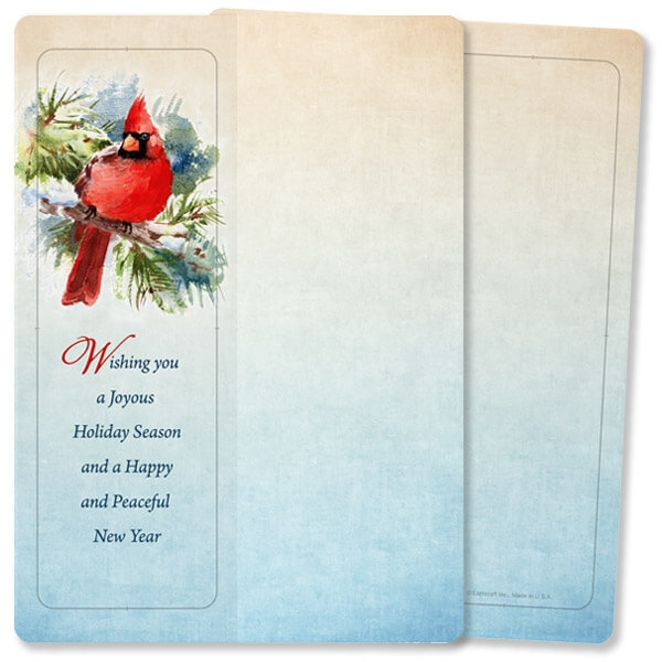 Cardinal in the Pines For Keeps™ Card, Joyous Holiday Season, No Envelope
