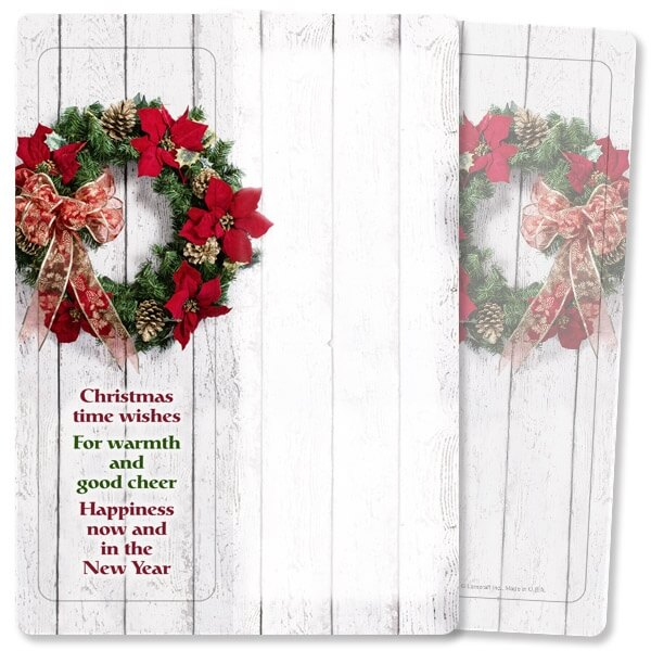 Christmas Wreath For Keeps™ Bookmark Card, Christmas Wishes, w/Envelope