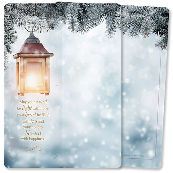 Bright Lantern For Keeps™ Bookmark Card, Christmas Wishes, w/Envelope