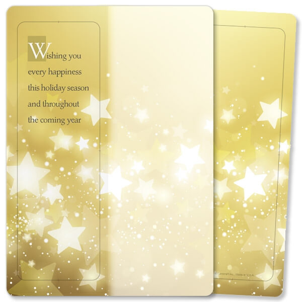 Golden Stars For Keeps™ Bookmark Card, Holiday Message, no envelope