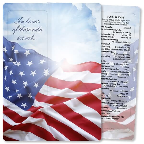 Veteran's Flag For Keeps™ Bookmark Card, Those Who Served, No Envelope