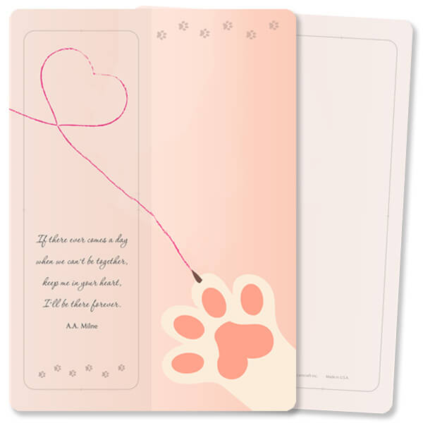 Heart Drawing For Keeps™ Bookmark Card, Keep Me in Your Heart, no envelope