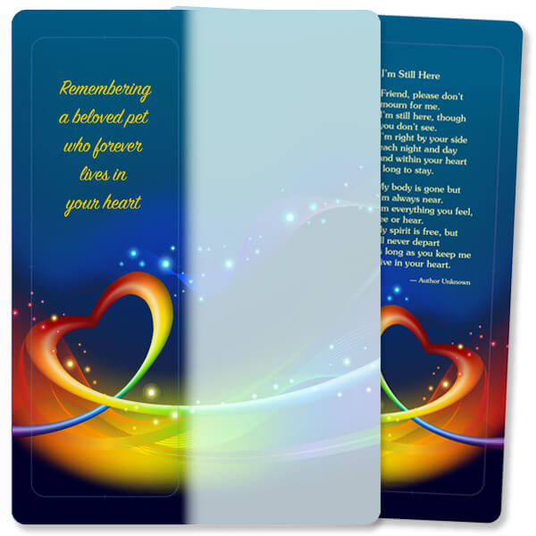 Heart Swirl For Keeps™ Bookmark Card, Remembering a Pet/I'm Still Here, w/Envelope