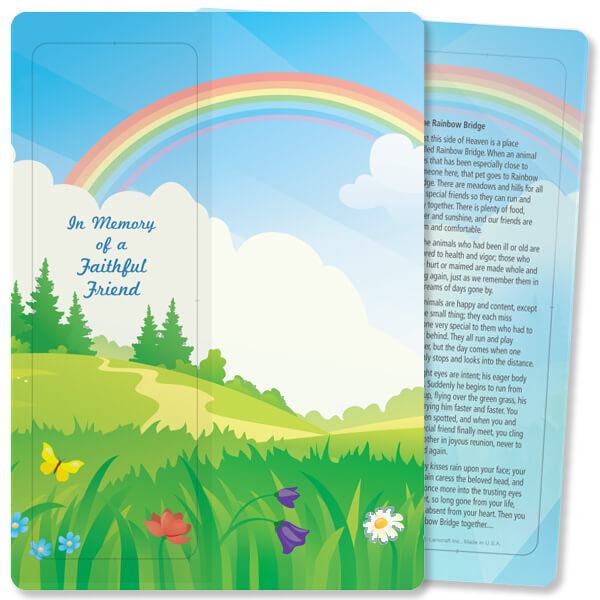 Rainbow Bridge For Keeps™ Bookmark Card, Faithful Friend/Rainbow Bridge, no envelope