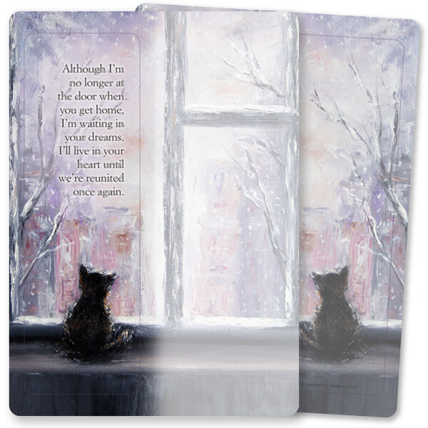 Cat At Window For Keeps™ Bookmark Card, No Longer at the Door, no envelope