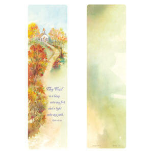 "3"" x 11"" Autumn Path Large Bookmark"