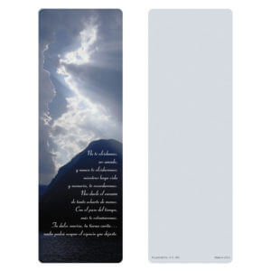 "3"" x 9"" Clouds & Sea Bookmark, No Estas Olvidado"